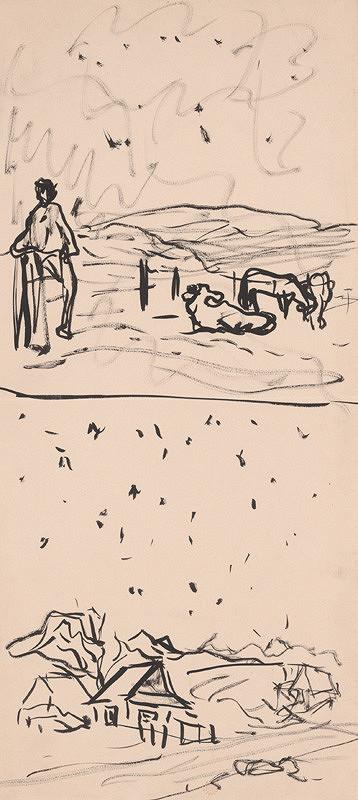 Arnold Peter Weisz-Kubínčan – Pastier kráv a krajina