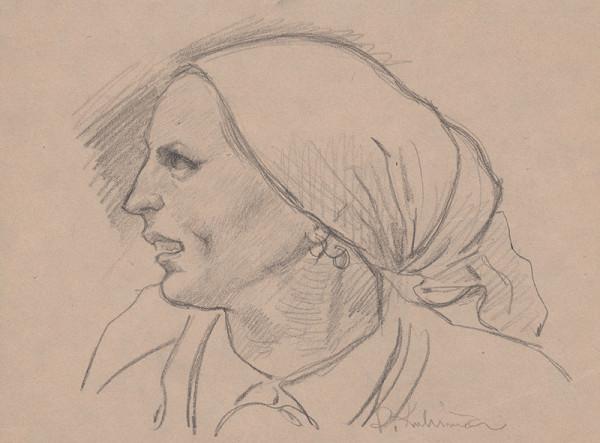 Arnold Peter Weisz-Kubínčan – Hlava ženy v šatke