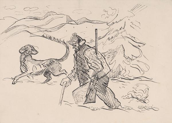 Arnold Peter Weisz-Kubínčan – Lovec so psom