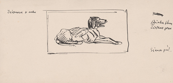 Arnold Peter Weisz-Kubínčan - Ležiaci pes