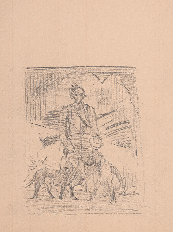 Arnold Peter Weisz-Kubínčan – Lovec s dvoma psami