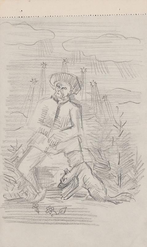 Arnold Peter Weisz-Kubínčan – Muž so psom