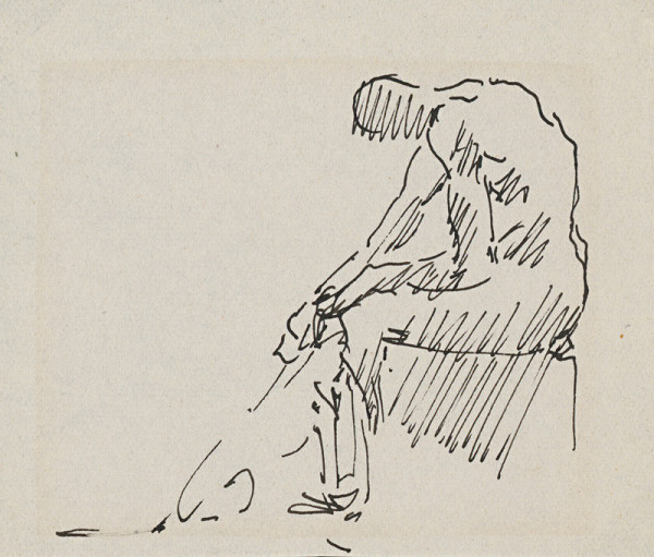 Arnold Peter Weisz-Kubínčan – Sediaci muž a pes