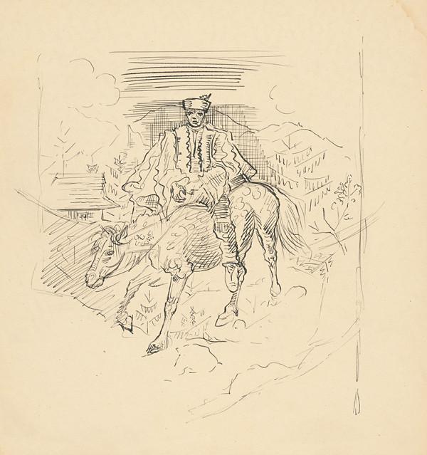 Arnold Peter Weisz-Kubínčan - Muž v kroji na koni