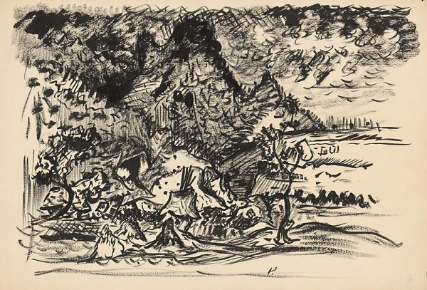 Arnold Peter Weisz-Kubínčan – Krajina s riekou (Štúdia)