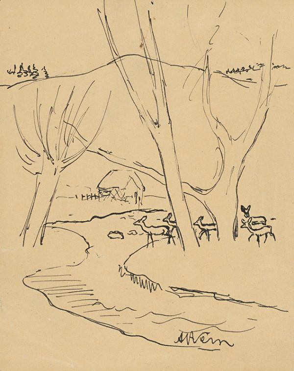 Arnold Peter Weisz-Kubínčan – Jelene v lese