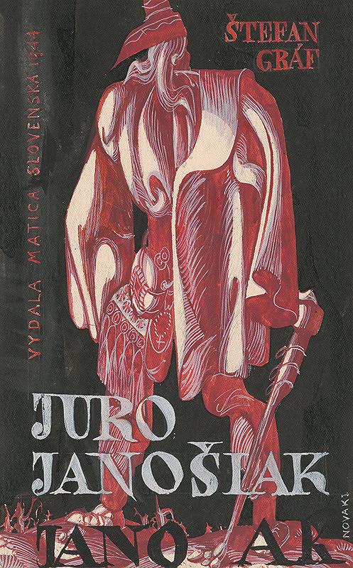 Ján Novák - Návrh na obálku ku knihe Štefana Gráfa Juro Jánošiak
