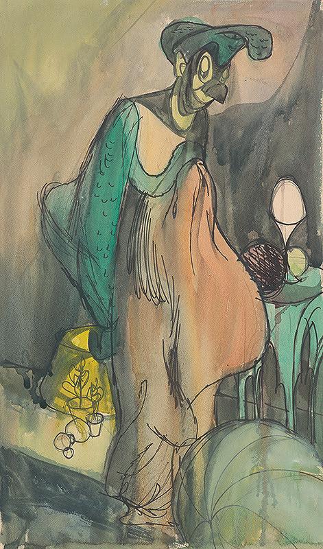 Ján Novák - Žena s vtáčou tvárou