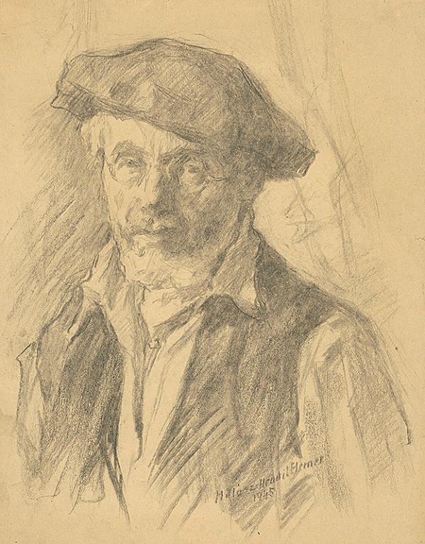Elemír Halász-Hradil – Autoportrét