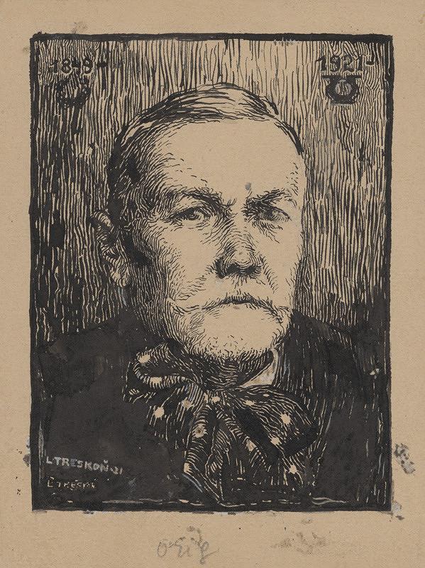 Ladislav Treskoň - Portrétna štúdia P.O.Hviezdoslava