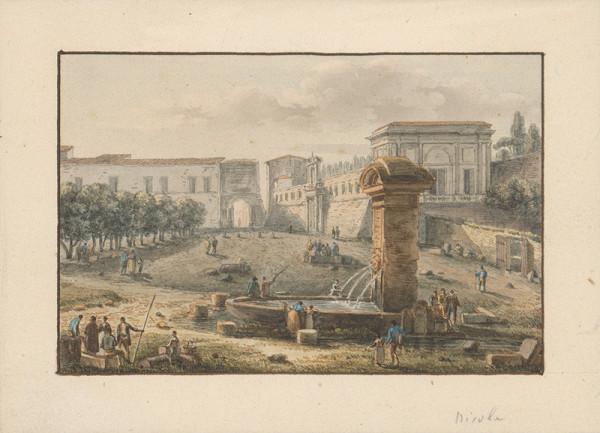 Taliansky majster z 2. polovice 18. storočia - Pri studni