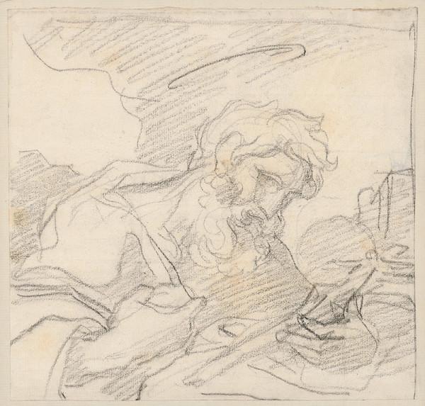 Vincenzo Camuccini – Svätec s krížom v ruke