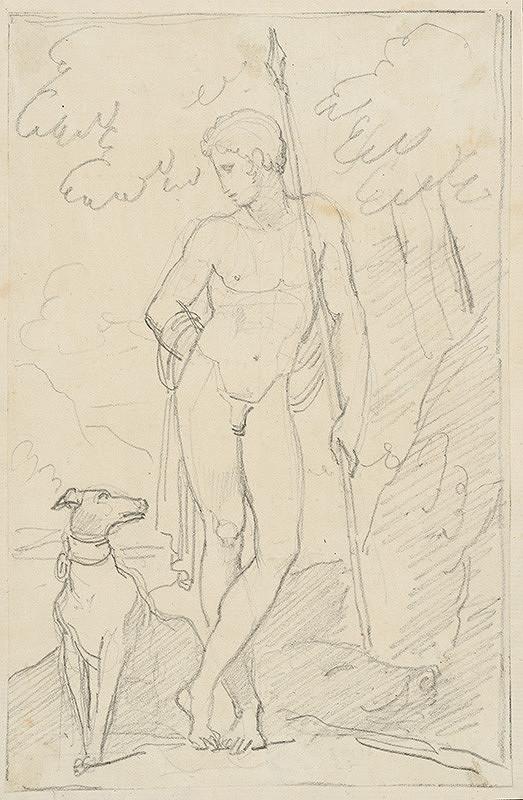 Vincenzo Camuccini – Mužský akt so psom