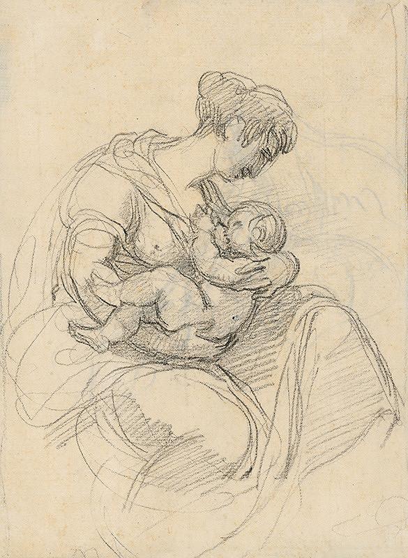 Vincenzo Camuccini – Matka kojaca dieťa