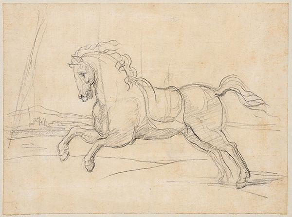 Vincenzo Camuccini – Štúdia klusajúceho koňa