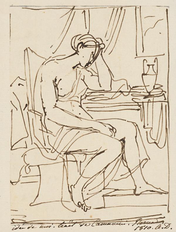 Vincenzo Camuccini – Sediaca žena s rukou si podopierajúca hlavu