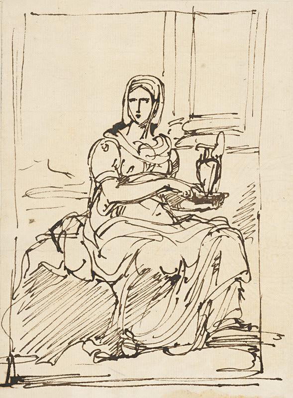 Vincenzo Camuccini – Sediaca žena držiaca v rukách konvicu
