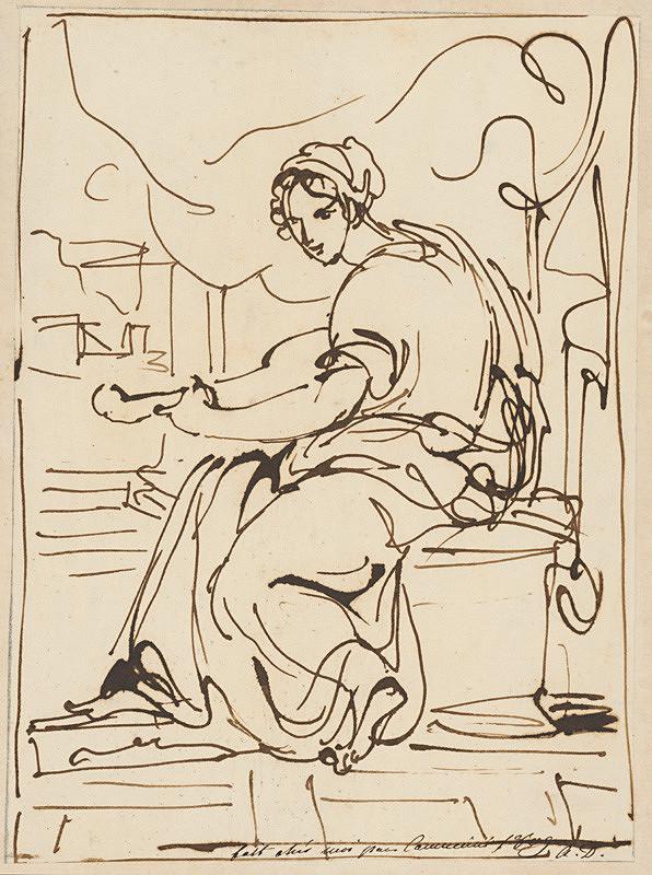 Vincenzo Camuccini – Žena hrajúca na lutne