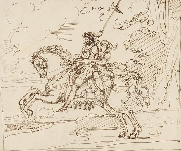 Vincenzo Camuccini – Rytier so ženou na koni