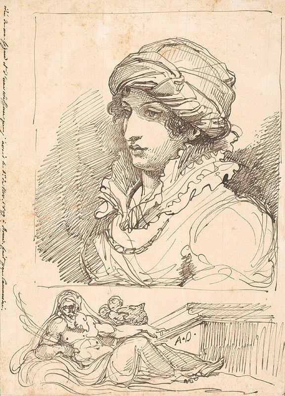 Vincenzo Camuccini – Portrétna štúdia ženy