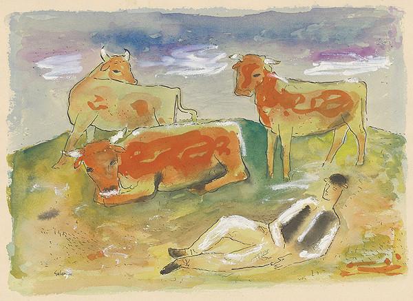 Mikuláš Galanda - Pastier s kravami