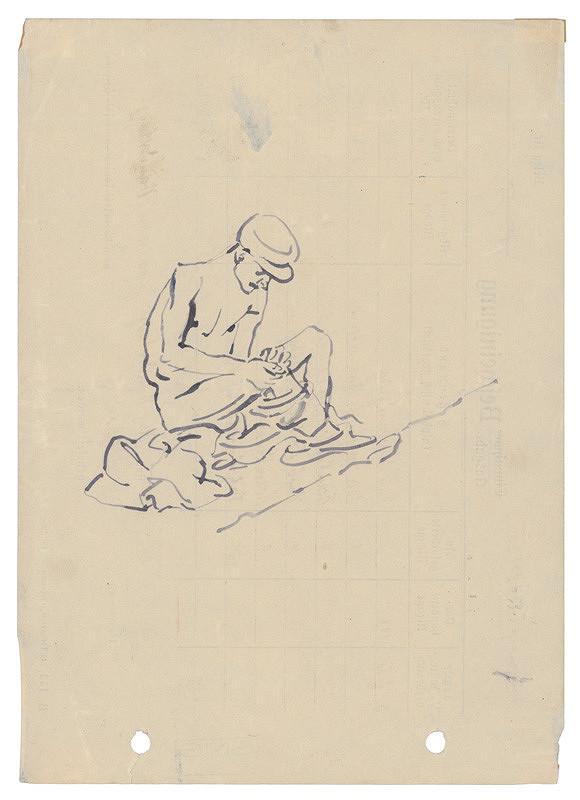 Jozef Fedora - Muž držiaci si boľavé koleno
