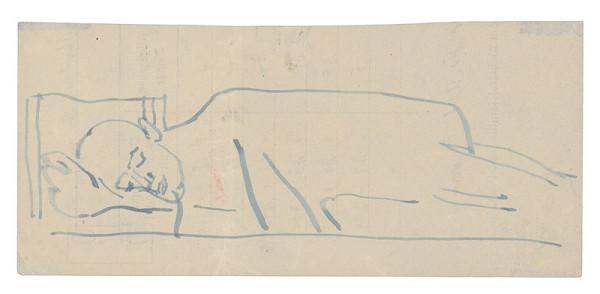 Jozef Fedora – Náčrt stojaceho muža v koncentráku