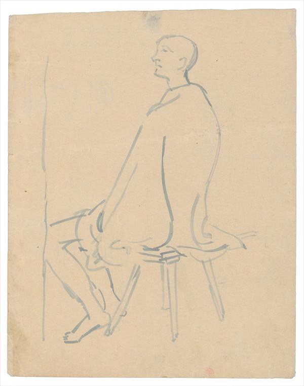 Jozef Fedora – Sediaci muž na lavici