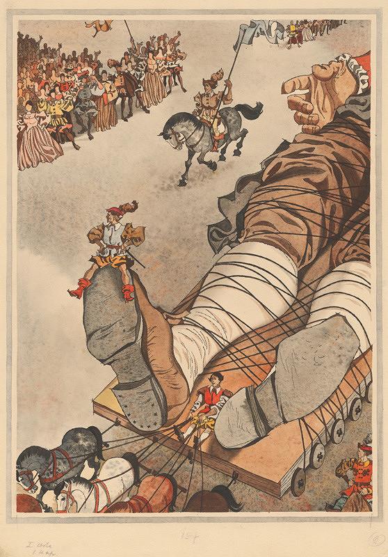 Vincent Hložník - Poviazaný Gulliver v zemi trpaslíkov