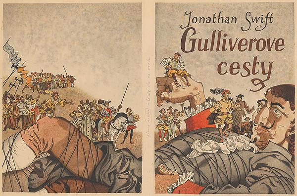 Vincent Hložník – Návrh na obálku ku knihe Jonathana Swifta Gulliverove cesty