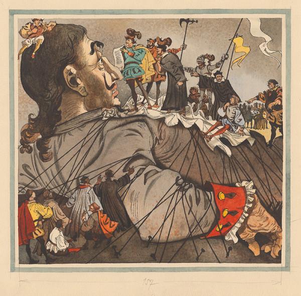 Vincent Hložník - Gulliver poviazaný v zemi trpaslíkov