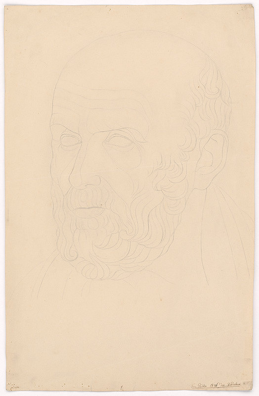 Ján Pálka – Hlava muža s kučeravou bradou