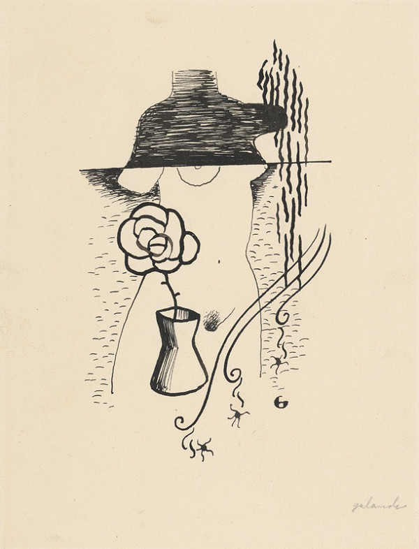 Mikuláš Galanda – Žena a kvet