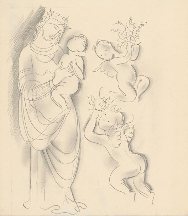 Mikuláš Galanda – Madona s dieťaťom a anjelikmi