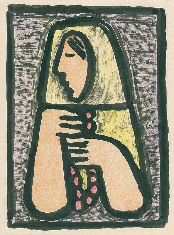 Mikuláš Galanda – Žena s ružencom