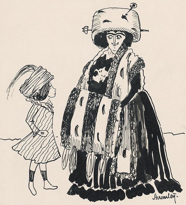Steremley – Bohatá dáma s kožušinovým rukávom
