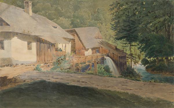 Friedrich Carl von Scheidlin - Mlyn na okraji lesa