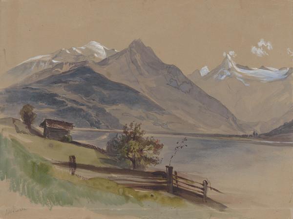 Friedrich Carl von Scheidlin - Alpská krajina s jazerom