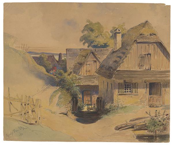 Friedrich Carl von Scheidlin - Motív z rakúskej dediny