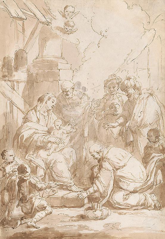 Sebastiano Ricci - Klaňanie troch kráľov