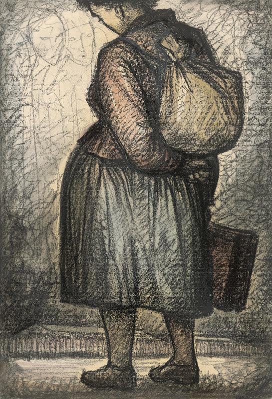 Imrich Weiner-Kráľ - Žena s nošou na chrbte