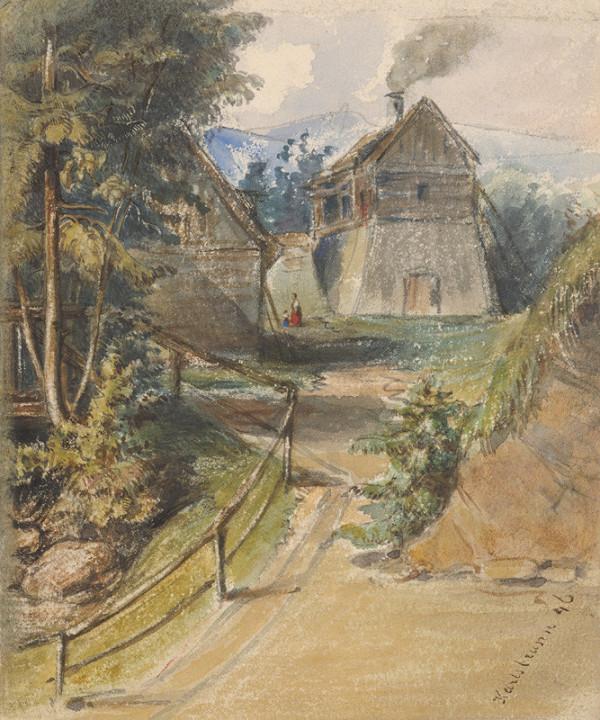 Friedrich Carl von Scheidlin – Motív z Karlsbrunnu