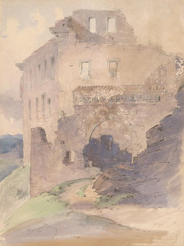 Friedrich Carl von Scheidlin – Zrúcaniny hradu