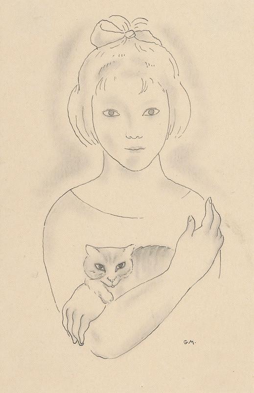 Mikuláš Galanda – Dievčatko s mačkou
