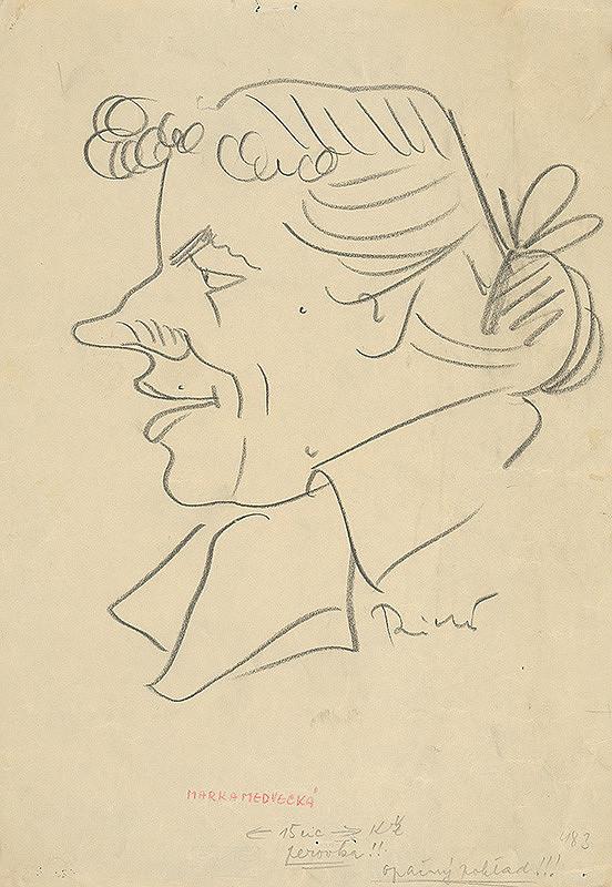 Alexander Richter - Karikatúra Marky Medveckej