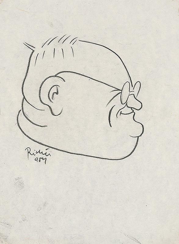 Alexander Richter - Karikatúra spisovateľa Františka Hečku
