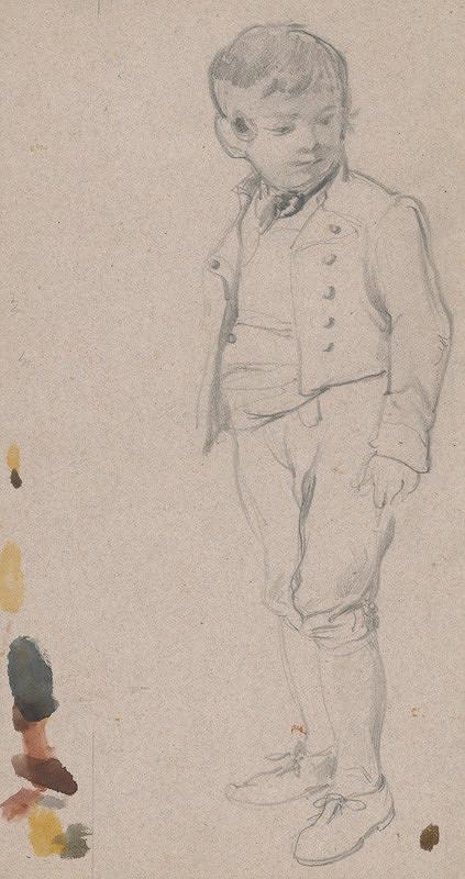 Friedrich Carl von Scheidlin – Štúdia chlapca