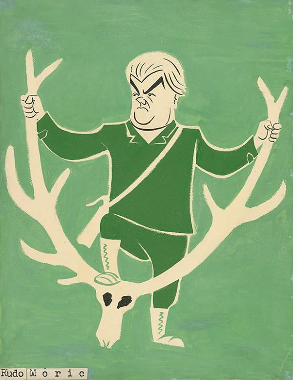 Alexander Richter - Karikatúra Ruda Mórica