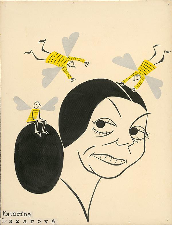 Alexander Richter - Karikatúra Kataríny Lazarovej