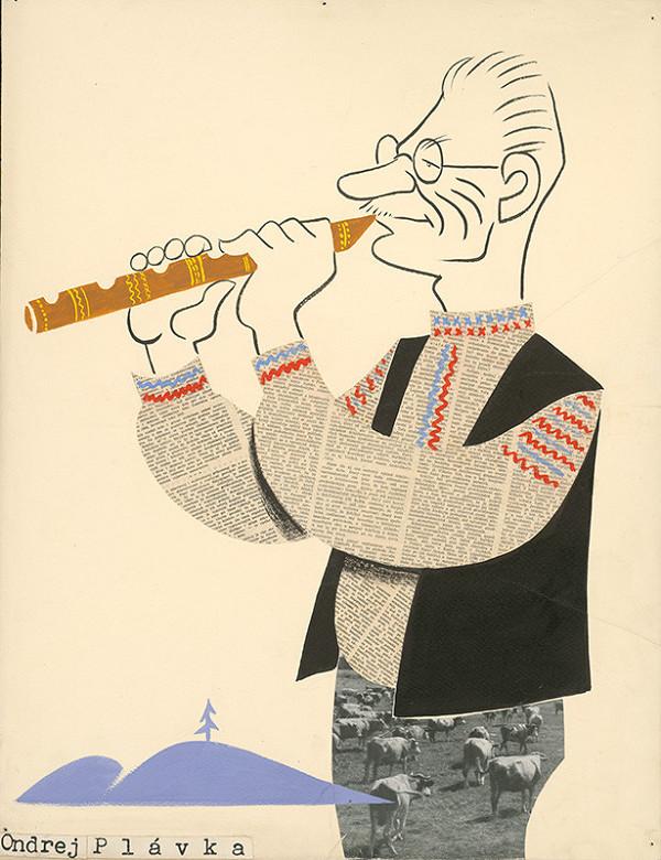 Alexander Richter - Karikatúra Andreja Plávku